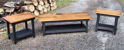 primitive coffee and end tables primitive handcrafted coffee table and set of end tables