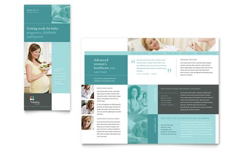 pregnancy clinic tri fold brochure template word publisher