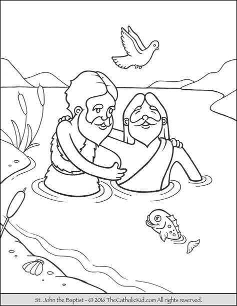 coloring pages john the baptist saint john the baptist jordan river coloring page cartoon