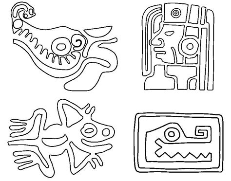 mayan civilization coloring page  coloring kids