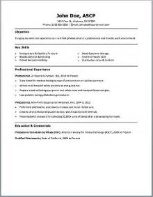 phlebotomy resume templates phlebotomist resume sle plus free template phlebotomy