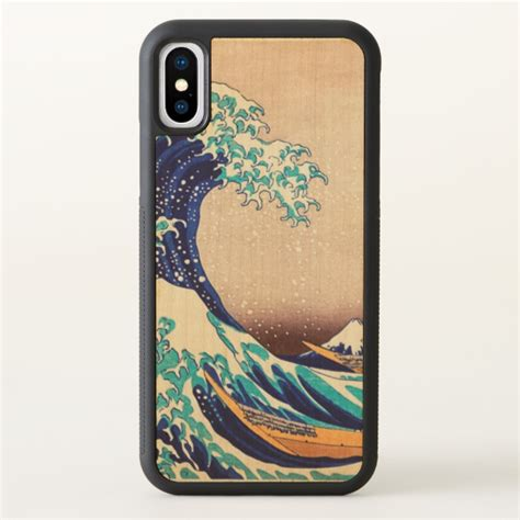 great wave  kanagawa vintage japanese art iphone  case case