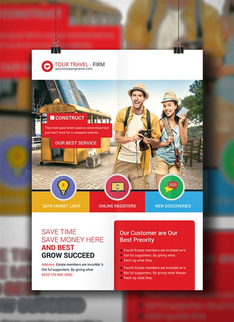tour flyer template tour travel agency flyer template on behance