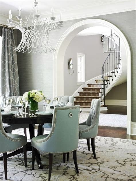 Gray And White Dining Room by Interior Styles Designs