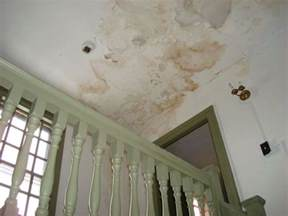 water damage on a plaster ceiling house trials and