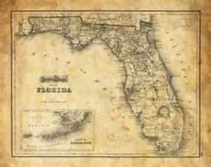 antique florida maps for sale florida map etsy