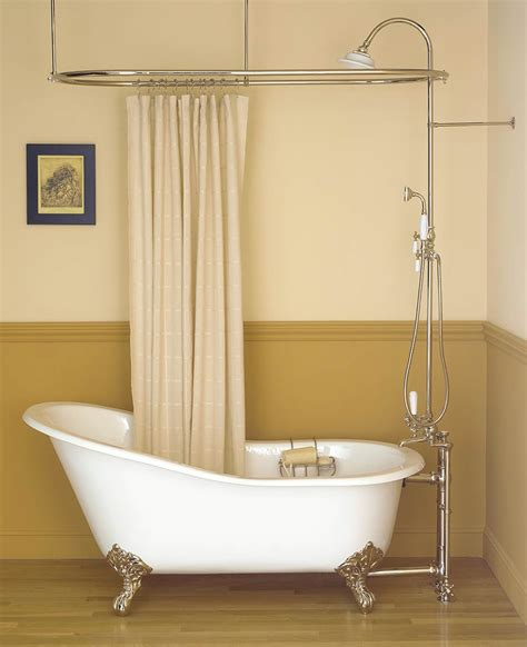 shower curtain rails for freestanding baths inspiring bathroom decor with clawfoot tub shower oval