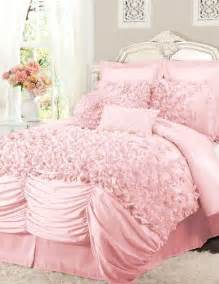 Shabby Chic Bedspread by Pink Ruffled Comforter Set L O V E Jerika Girls