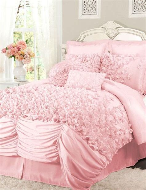 pink ruffled comforter set l o v e jerika girls