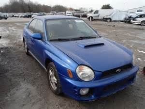 wrecked subaru salvage 2003 subaru impreza wr for sale