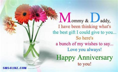 Wedding Anniversary Wishes Parents by Wedding Anniversary Wishes For Parents