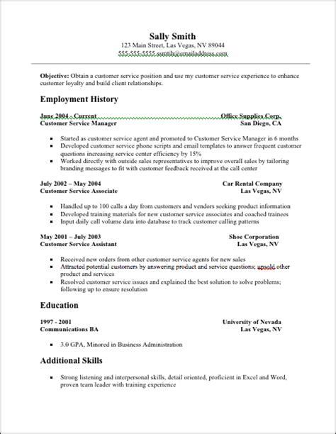 jobresumeweb: Customer Service Resume Examples Resume