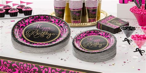 Pink And Black Birthday Decorations by Mesmerizing Pink And Black Birthday Decorations