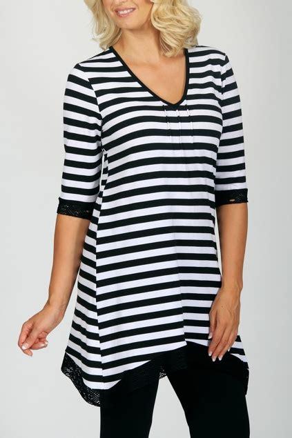 Delia Stripe Tunic cordelia st wave stripe tunic womens tunics at
