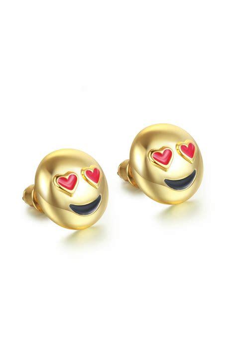 emoji earrings passiana love emoji earrings from manhattan by 6th borough