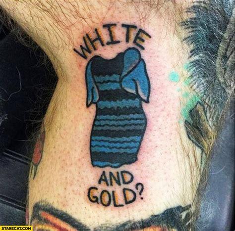 tattoo black and blue dress white and gold dress tattoo blue black starecat com