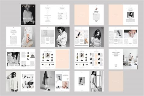 indesign magazine template sodermalm magazine design