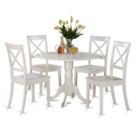 east west furniture linen white small table   dinette
