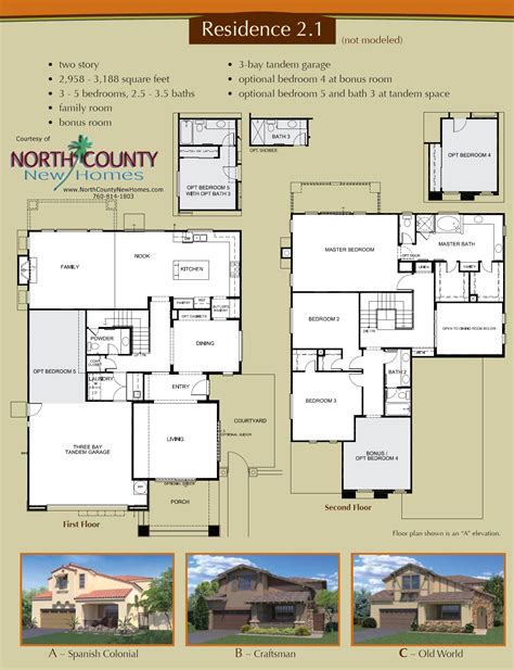 california floor plans altaire floor plan 2 1 new homes for sale in san elijo hills