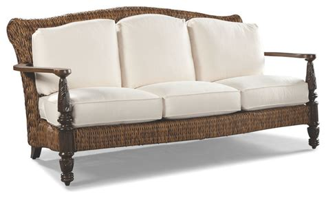 tropical sofa royal plantation 80 quot sofa w pillows tropical outdoor