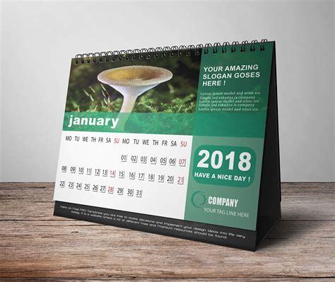 Calendar 2018 Desk Designer New Desk Calendar 2018 On Behance