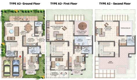 villa floor plans india luxury villa floor plans in india