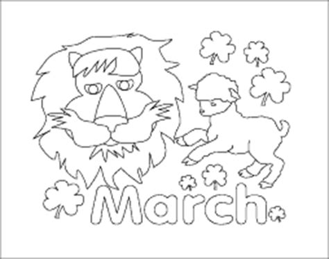 March Calendar Month Coloring Page March Coloring Pages Printable