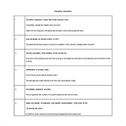 11 evacuation plan templates free sle exle