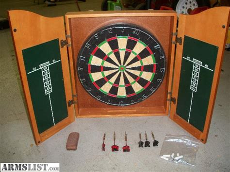 armslist for sale dart board in wood cabinet