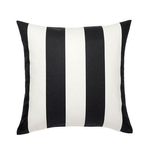 black and white striped pillow ikea vargyllen cushion cover 20x20 black white stripes
