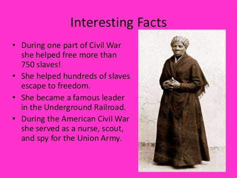 biography facts about harriet tubman harriet tubman