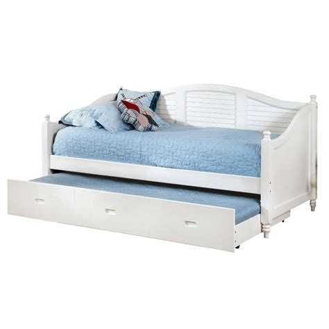 twin size bed with trundle twin size louver white wood daybed with roll out trundle