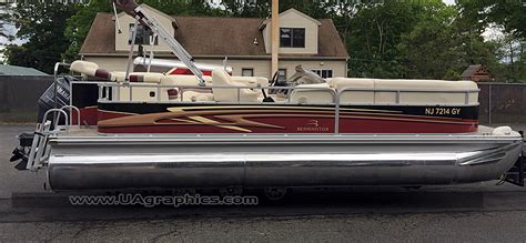 bennington pontoon boat graphics tri state pontoon boat wrap 11 ua graphics