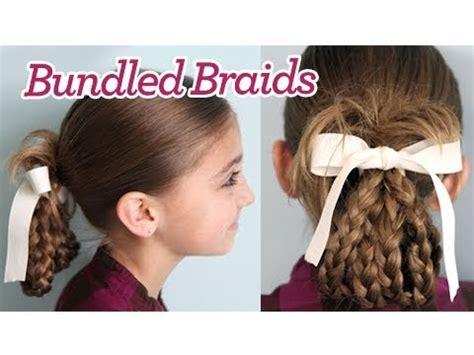 cute girl hairstyles youtube bow bundled braids cute girls hairstyles youtube
