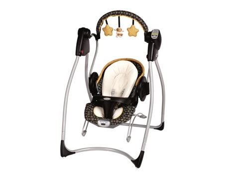 black and white baby swing graco 2 in 1 swing bouncer duo kids woot