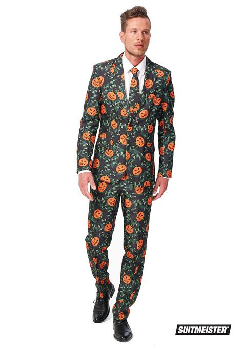 mens suitmeister basic pumpkin suit costume