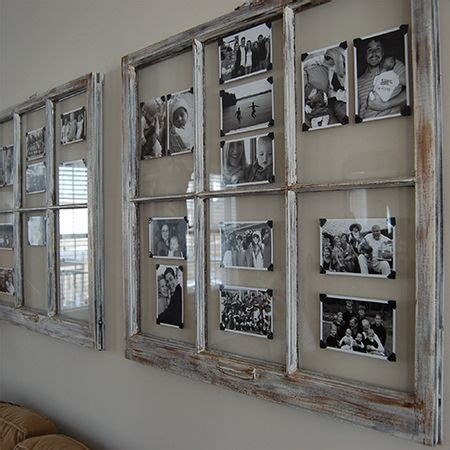 how to turn an old window into a photo frame hymns and turn reclaimed old picture frame into photo art wall