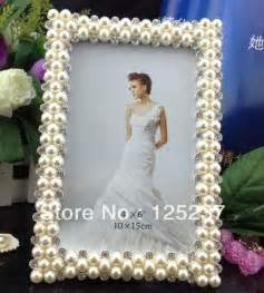 Wedding Favor Frames Wholesale pearl photo frames 4x6 wholesale picture frame wedding