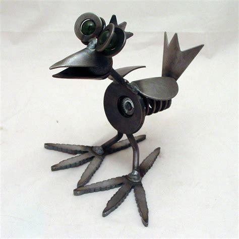 Handmade Sculpture - yardbirds unpainted recycled metal coil chicken