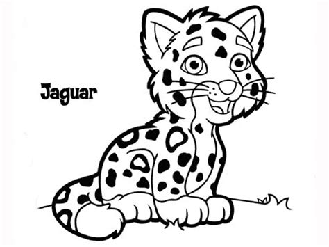 free coloring pages of cartoon jaguar