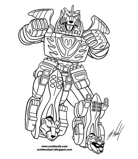 power rangers robot coloring pages the megazord robot of power rangers jungle fury coloring