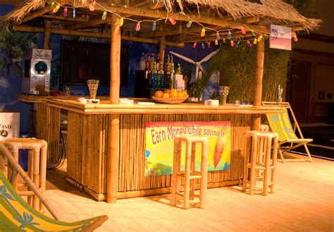 table top tiki bar hut handmade bamboo tiki display concession hut by suncoast