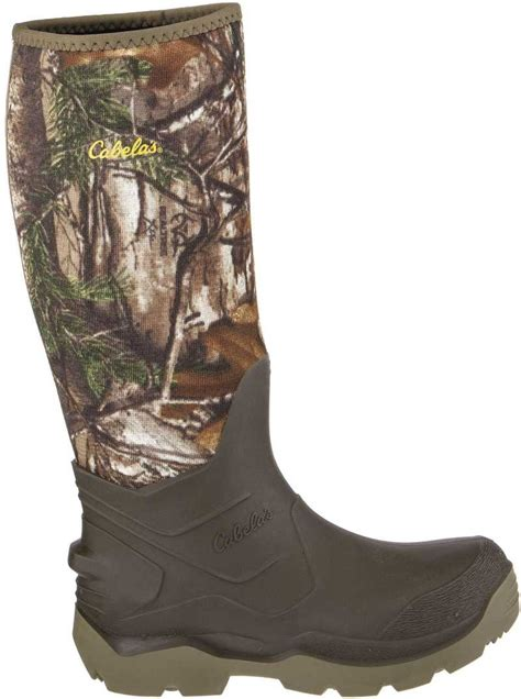 cabela s boots realtree xtra accelerator 5mm rubber boots by cabela s