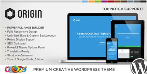 theme wordpress origin wp origin responsive creative wordpress theme by