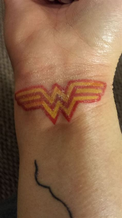 wonder woman wrist tattoo bracelet