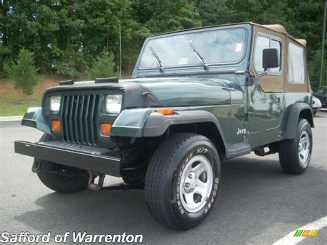green jeep wrangler 1994 green metallic jeep wrangler s 4x4 17200510