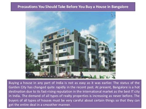 buy a house in bangalore precautions you should take before you buy a house in bangalore