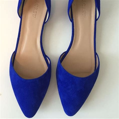 Flat Shoes Blue S30102 1 j crew s blue suede flats flats blue flats and