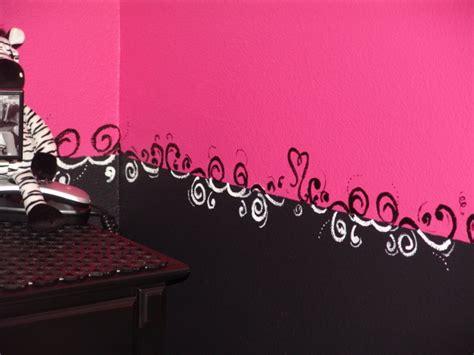 pink and black zebra bedroom