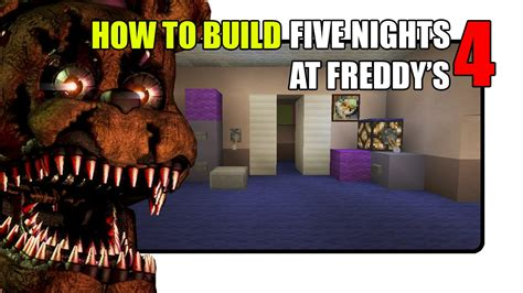 Five nights at freddy s 4 map in minecraft fnaf 4 map youtube